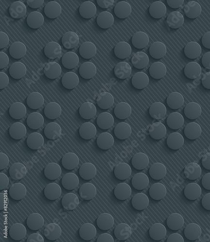 3D Dark Gray Seamless Perforated Wallpaper. - 82912036