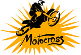 Fototapety Motocross vector picture