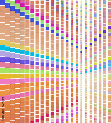 Abstract colorful square pattern, pixel dots mosaic background - 82913441