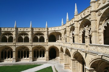Architecture detail of the Jerónimos Monastery