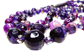amethyst semiprecious beads necklace