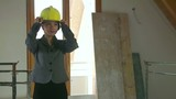 Asian Woman Engineer Architect In Construction Site New Building