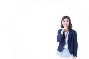 オフィスカジュアルID(白バック)