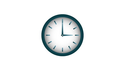 Clock isolated on white, Video animation, HD 1080
