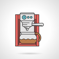 Coffee maker flat vector icon