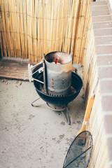 Preparing a summer barbecue