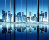 Fototapety City Lights Urban Scenic View Buildings Concept