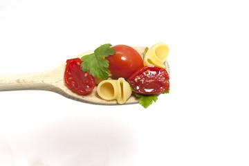 cucchiaio di pasta condita