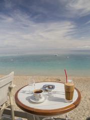coffee green sea holidays table