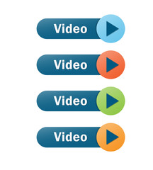 VIDEO web buttons with PLAY symbol
