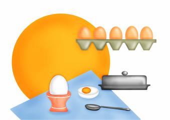 Натюрморт яйцо