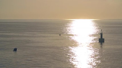 Amazing Golden Sunlight Gleaming Over The Sea