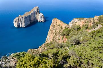 Sardegna, costa del Sulcis e scoglio Pan di Zucchero