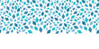 Vector blue mosaic texture horizontal border seamless pattern