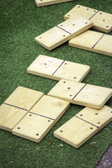 Wooden board games. color image