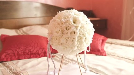 Wedding Bouquet Made Of White Roses