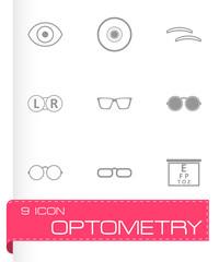 Vector optometry icons set