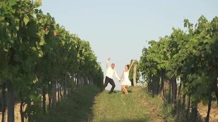 Newlyweds Jump Up High