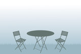 Garden table and chairs illustration - 82932609