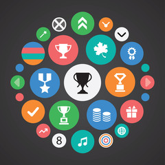 award icons universal set