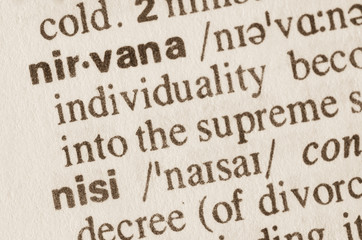 Dictionary definition of word nirvana