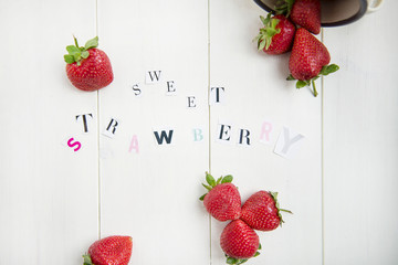 Sweet Strawberry Letters cut out from the Magazine