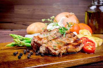 Grilled steak meat
