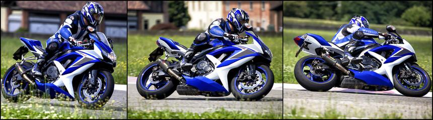 Motociclista in curva
