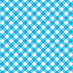Blue Tablecloth Multiply Colors Pattern