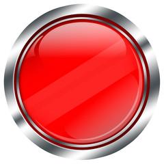 leerer roter Web Button mit Glanz Design für Text Vorlage