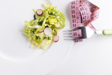 Healthy salad. Diet. Ideal waistline.