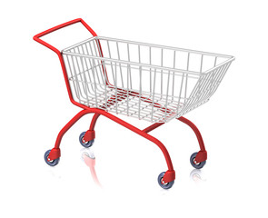 Shop Cart Isolated on White