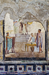Mosaic and Fresco house in Pompeii