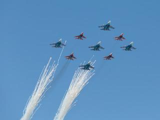 fignter MiG-29 and Su-27