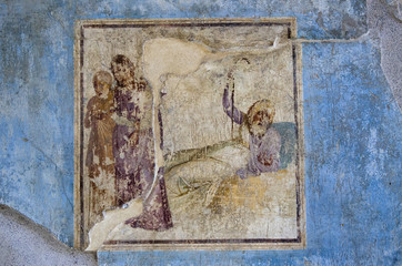 Fresco in the ruins of Pompeii