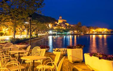 Night landscape of Trevignano Romano, Lazio Italy