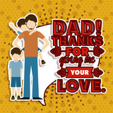Fototapety Fathers day design