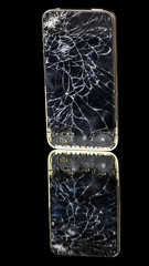Cracked display on a smart phone
