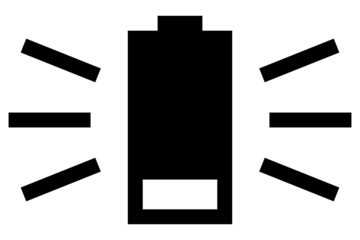 Flat battery vector icon