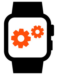 Smartwatch settings vector icon