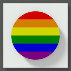 gay flag round button