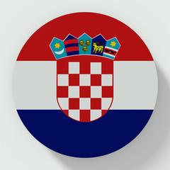 Croatia flag round button