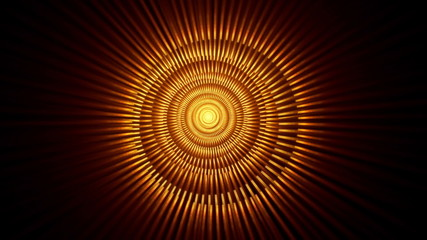 Radiate Fiery Tunnel With Rays Of Light