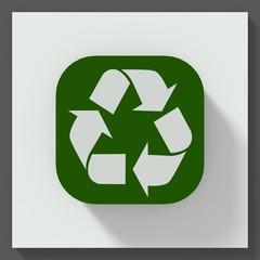 Recycle symbol square button