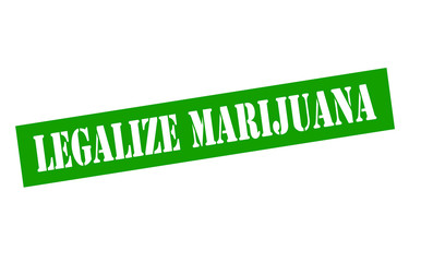 Stamp with text legalize Marijuana inside, vector illustration