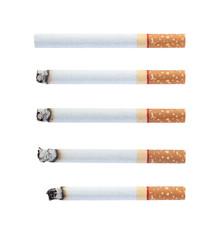 Set of burning cigarettes.