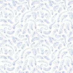feathers seamless pattern