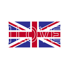 I love British flag