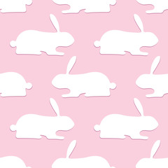 Pattern with opposite rabbits