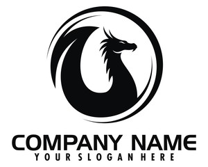 dragon serpent logo image vector